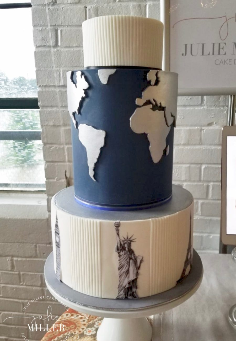 World map Grooms cake 08_09_2018